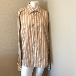 Men's Tessori Dress shirt beige Sz.xxl